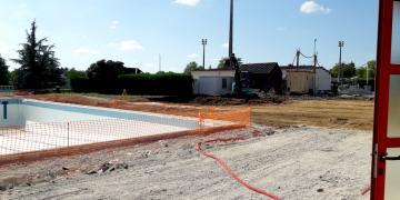 ZONE 4 - Réalisation de la plateforme pour construction de l'extension (10 septembre 2018)