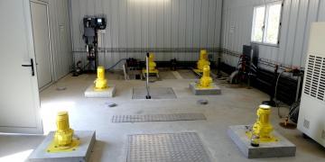 Nouveau local d'exploitation (vue des équipements d'agitation)
