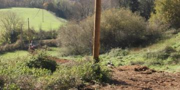 Terrain naturel présentant une forte pente