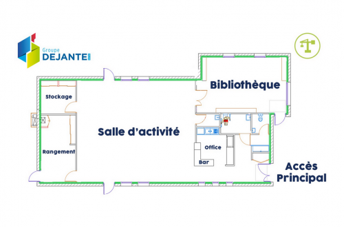 Vue en plan - Maison des associations