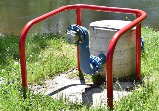 Groupe Dejante - Eau et environnement - prise d'eau en rivière - défense incendie Argentat (CORRÈZE 19))